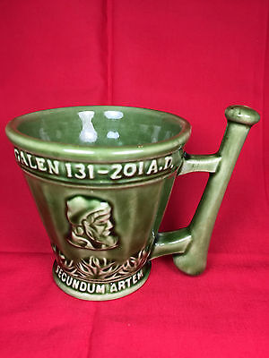 Vintage PHARMACIST CORICIDIN SCHERING 1960s Rx Pestle Pottery Mug Gift Unique