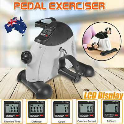 Portable Hand Foot Pedal Mini Exercise Bike Bicycle Cycling Gym Fitness Workout