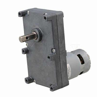 DC12V 13RPM High Torque Speed Reduction Metal Gear Motor Silver Gray