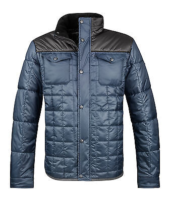 Cavallo Men's Quilted Jacket Hank teal Men's jacket petrol Fleece collar