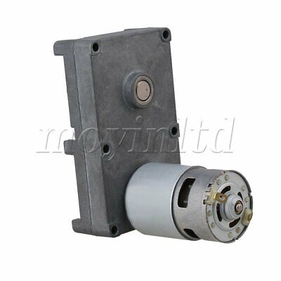 DC12V 2.5RPM High Torque Speed Reduction Metal Gear Motor Silver Gray
