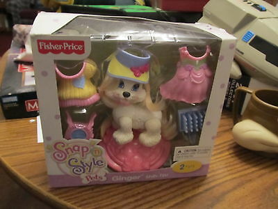 Fisher Price Snap n Style Pets Ginger Set NEW IN BOX