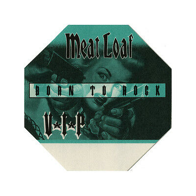 Meat Loaf authentic VIP 1996 tour Backstage Pass