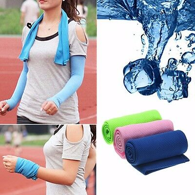 Sport Running Jogging Cycling Hiking Instant Ice Cold Cooling Towel Cool Gym Pad