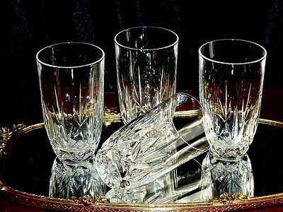 Fabulous Vintage Hand Etched  Crystal Tumblers /  Water  Glasses Set Of 4