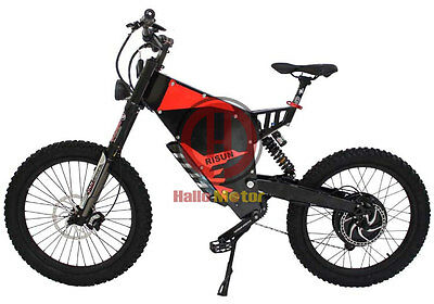 Exclusive 48V 1500W FC-1 Stealth Bomber Electric Bicycle Super Mountain EBike
