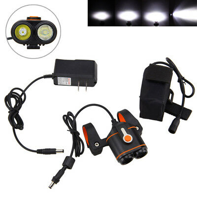 10000LM 2x XM-L2 LED Bike Bicycle Rechargeable Light  Headlamp Torch H/L Beam