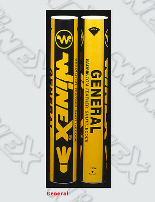 1x Dozen Winex General Feather Shuttlecocks (Yonex Alt)