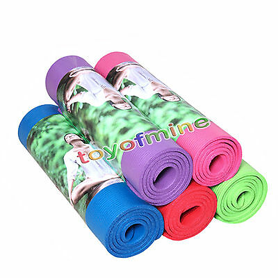 10mm Thick Non-Slip Yoga Mat Exercise Fitness Lose Weight All-Purpose 72-Inch