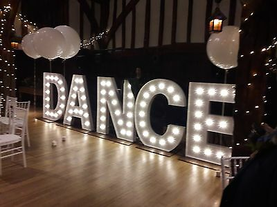 Light Up Party, Prom, Wedding LETTERS 4ft high - other sizes available