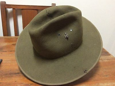 Post WW2 Australian Army Hat Khaki Fur Felt (slouch Hat)