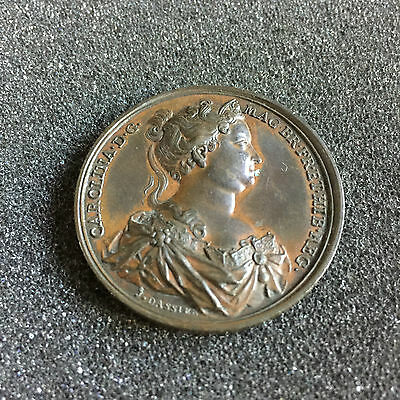 1731 Caroline 41mm Bronze Commemorative Medal By Jean Dassier No 524 in Series