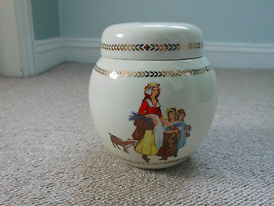 Yardley ceramic pottery container pot with lid