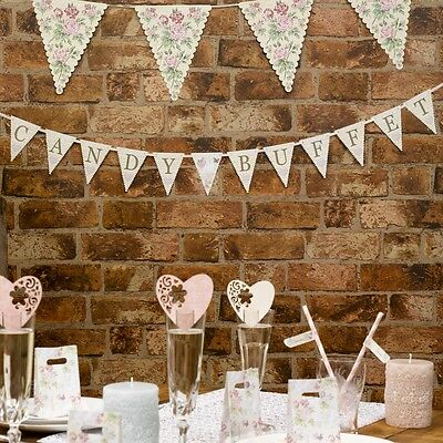 WITH LOVE CANDY BUFFET BUNTING - Sweetie Bar Sign, vintage weddings