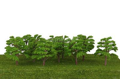 20pcs Model Light Green Trees Layout Train Garden Park Dioram 1:150 N Scale