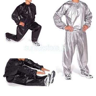 Unisex Gym Exercise Fitness Boxing Sauna Sweat Suit Slimmer Weight Loss Anti-Rip