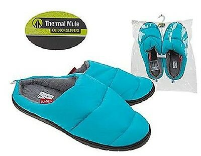 NEW Summit Thermal Mule Blue Slippers, Water Resistant, Camping, Winter, SMALL!