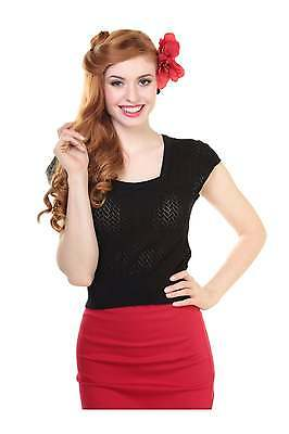 Collectif Vintage Pia Square Neck Knitted Top (S)