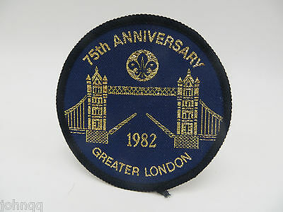 Boy Scouts UK England 75th Anniversary Greater London 1982 Patch