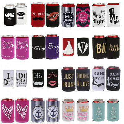 2pcs Soda Can Tin Cooler Holder Wedding Birthday Baby Shower Party Gift Favor