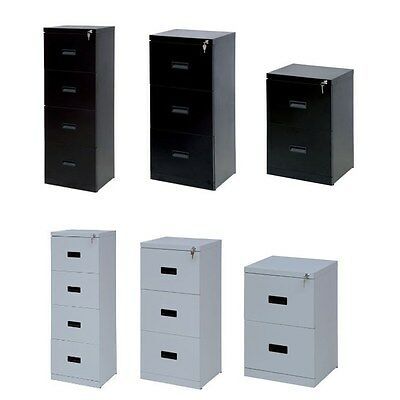 Home Office Heavy Duty Filing Cabinet 2 3 4 Drawer A4 Foolscap Suspension Files