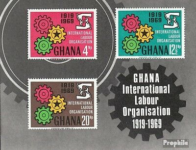 Ghana Block37 (complete.issue.) unmounted mint / never hinged 1970 ILO