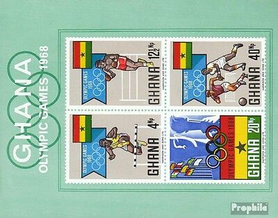Ghana Block33 (complete.issue.) unmounted mint / never hinged 1969 Olympia