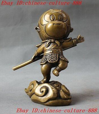 Chinese folk myth bronze made Journey to the West Sun Wukong Monkey King statue