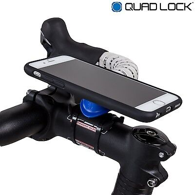 Quad Lock Bike Kit for Iphone 7 Bicycle Mount, Case & Weatherproof Cover