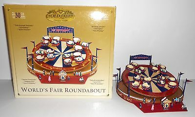 Mr. Christmas WORLD'S FAIR ROUNDABOUT Animated Gold Label Musical 30 Songs