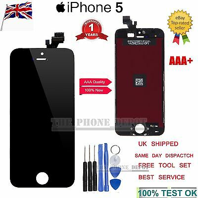 For iPhone 5 Screen Replacement Black Glass LCD Touch Display Digitizer Assembly