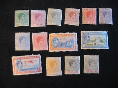 Bahamas - 1938-51 selection of MM definitive stamps to 1/- (2 shades)
