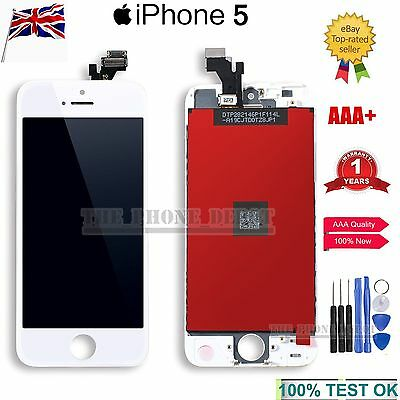 For Apple iPhone 5 LCD Digitizer Touch Screen Display Assembly Replacement White