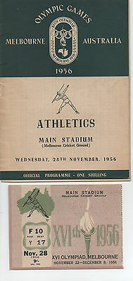 1956 Olympic Games - Melbourne - Athletics Competition 28Th November 1956