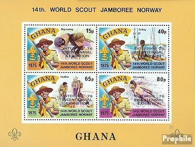 Ghana block64a (complete.issue.) unmounted mint / never hinged 1976 Philately