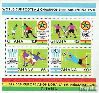 Ghana block76a (complete.issue.) unmounted mint / never hinged 1978 Football