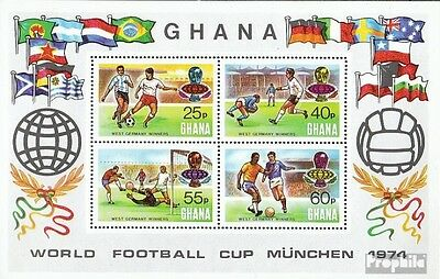 Ghana Block58A (complete.issue.) unmounted mint / never hinged 1974 Football