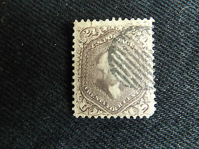 Usa 1861 24 Cent George Washington Brown Perf 12,stamp