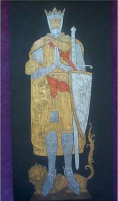Scttish King Robert the Bruce, Brass Ruubbing of Memorial Plate, c.1329,  Fife