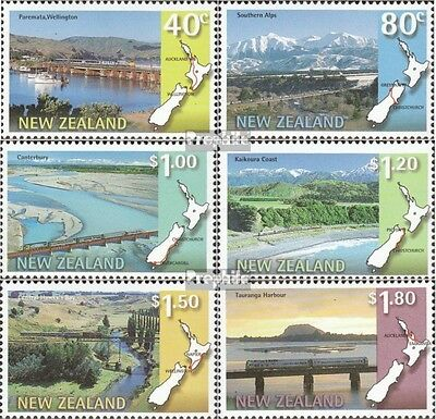 New Zealand 1614-1619 (complete.issue.) fine used / cancelled 1997 panorama-rail