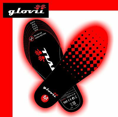 Battery heated ThermoActive Shoes Insoles with Remote control sizes: M, L GLOVII