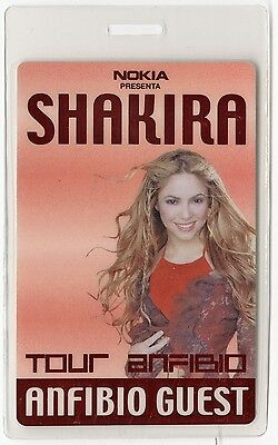 Shakira authentic 2000 concert tour Laminated Backstage Pass
