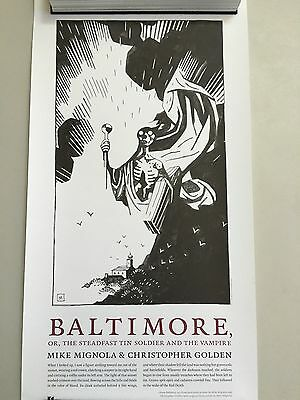 Baltimore Steadfast Tin Soldier And The Vampire Lot of 3 Prints Mike Mignola