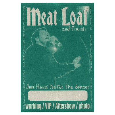 Meat Loaf authentic VIP 2002 tour Backstage Pass