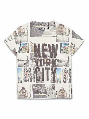 BNWT Boys New York City Print T-shirt Age 2-8 Years *FREE P&P*