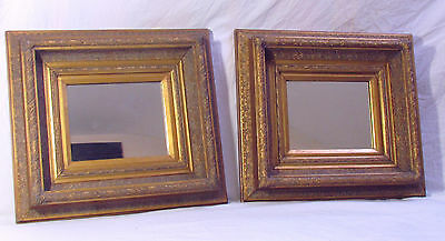 A Pair Of Very Decorative Gilt Frames Mirrors
