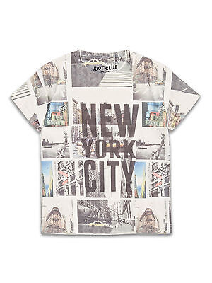 BNWT Boys New York City Graphic Print Top Age 8-13 Years *FREE P&P*