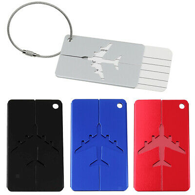 Luggage Tags Suitcase Label Name Address ID School Bag Baggage Tag Travel Plane