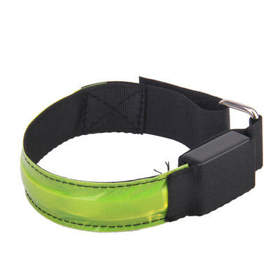 Running Cycling LED Flashing Adjustable Reflective Armband - Yellow LED