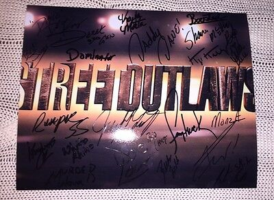 22 Street Outlaws Cast Signed 8x10 Photo Discovery Channel Big Chief Daddy Dave+